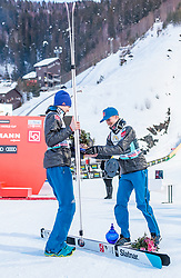 18.03.2018, Vikersundbakken, Vikersund, NOR, FIS Weltcup Ski Sprung, Raw Air, Vikersund, Finale, im Bild Andreas Stjernen (NOR, 2. Platz), Sieger Robert Johansson (NOR) // 2nd placed Andreas Stjernen of Norway, Winner Robert Johansson of Norway during the 4th Stage of the Raw Air Series of FIS Ski Jumping World Cup at the Vikersundbakken in Vikersund, Norway on 2018/03/18. EXPA Pictures © 2018, PhotoCredit: EXPA/ JFK