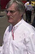 Bernie Ecclestone. Grand Prix, Saturday, 28/4/01. Barcelona. 27 April 2001. © Copyright Photograph by Dafydd Jones 66 Stockwell Park Rd. London SW9 0DA Tel 020 7733 0108 www.dafjones.com
