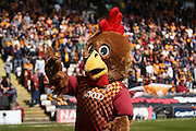 Bradford City mascot  during the Sky Bet League 1 play off first leg match between Bradford City and Millwall at the Coral Windows Stadium, Bradford, England on 15 May 2016. Photo by Simon Davies.