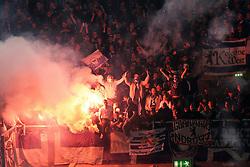 15.05.2012, ESPRIT arena, Duesseldorf, GER, 1. FBL, Relegation, Rueckspiel, Fortuna Duesseldorf vs Hertha BSC Berlin, im Bild Berliner Fans mit Pyrotechnik, Freisteller // during the German Bundesliga Relegation 2st leg Match between Fortuna Duesseldorf and Hertha BSC Berlin at the ESPRIT arena, Duesseldorf, Germany on 2012/05/15. EXPA Pictures © 2012, PhotoCredit: EXPA/ Eibner/ Oliver Vogler..***** ATTENTION - OUT OF GER *****