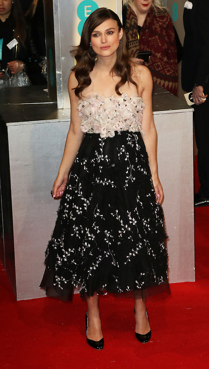 Keira Knightley, EE British Academy Film Awards (BAFTAs), Royal Opera House Covent Garden, London UK, 08 February 2015, Photo by Richard Goldschmidt