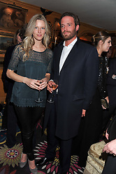 OLIVIA HUNT and COUNT RICCARDO LANZA at the Johnnie Walker Blue Label and David Gandy partnership launch party held at Annabel's, 44 Berkeley Square, London on 5th February 2013.