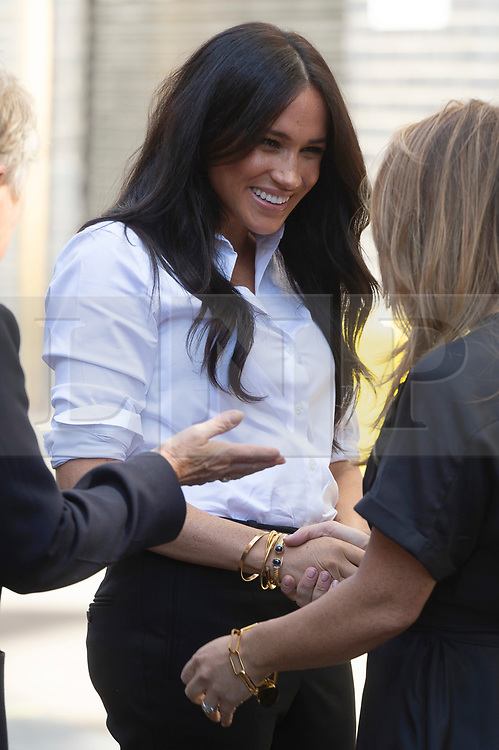© Licensed to London News Pictures. 12/09/2019. London, UK. The Duchess of Sussex arrives at John Lewis store to launch Smart Works Capsule Collection. Photo credit: Ray Tang/LNP