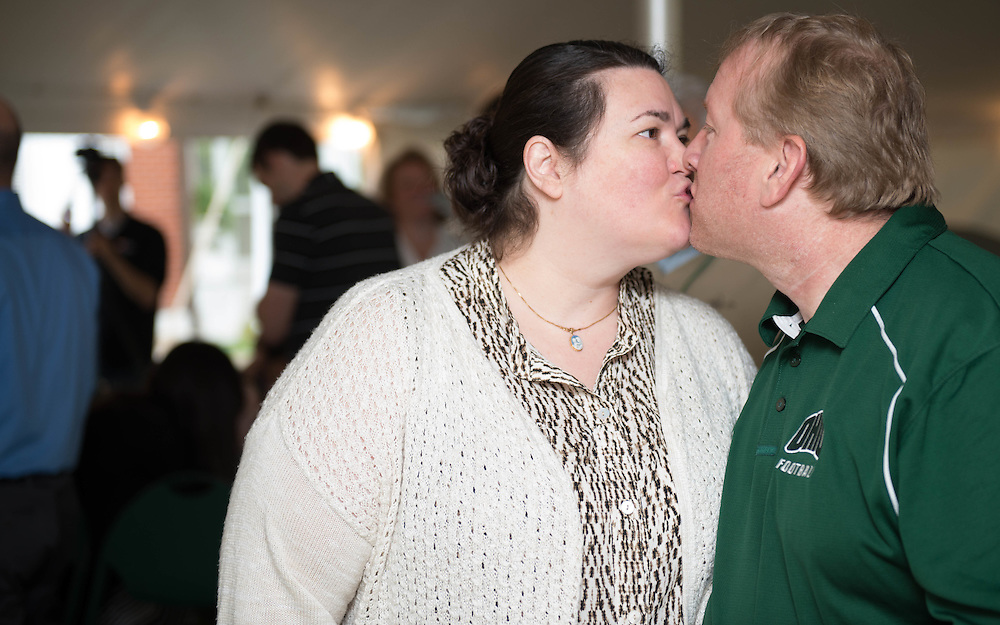 OH, I Do vow renewal ceremony outside of the Konneker Alumni Center during On The Green Weekend on Sunday, May 22, 2016. © Ohio University / Photo by Kaitlin Owens