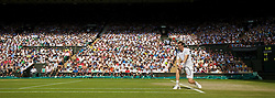 02.07.2014, All England Lawn Tennis Club, London, ENG, ATP Tour, Wimbledon, im Bild Andy Murray (GBR) during the Gentlemen's Singles Quarter-Final match on day nine // during the Wimbledon Championships at the All England Lawn Tennis Club in London, Great Britain on 2014/07/02. EXPA Pictures © 2014, PhotoCredit: EXPA/ Propagandaphoto/ David Rawcliffe<br /> <br /> *****ATTENTION - OUT of ENG, GBR*****