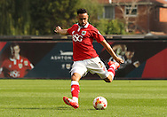 Derrick Williams of Bristol City takes a shot at goal during the Sky Bet League 1 match at Ashton Gate, Bristol<br /> Picture by Tom Smith/Focus Images Ltd 07545141164<br /> 06/09/2014