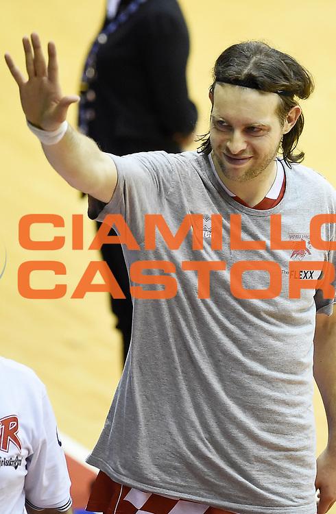Michele Antonutti<br /> Grissin Bon Pallacanestro Reggio Emilia - The Flexx Pistoia Basket<br /> Lega Basket Serie A 2016/2017<br /> Reggio Emilia, 30/04/2017<br /> Foto A.Giberti / Ciamillo - Castoria