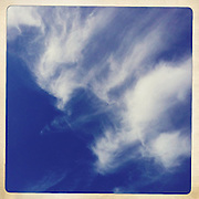 Cirrus clouds in dark blue sky