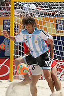 Footbal-FIFA Beach Soccer World Cup 2006 -  Quarter Final-ARG xURU -Baca-Rio de Janeiro- Brazil - 09/11/2006.<br />Mandatory Credit: FIFA/Ricardo Ayres