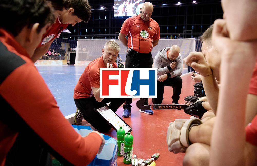 BERLIN - Indoor Hockey World Cup<br /> Men: Iran - Austria<br /> foto: SZMIDT Tomasz.<br /> WORLDSPORTPICS COPYRIGHT FRANK UIJLENBROEK