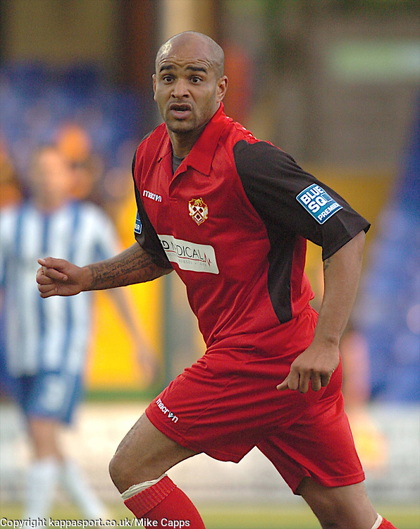 LEON McKENZIE KETTERING TOWN, Stockport County v Kettering Town, Blue Square Premier, Edgeley Park Stockport,<br /> Tuesday 16th August 2011