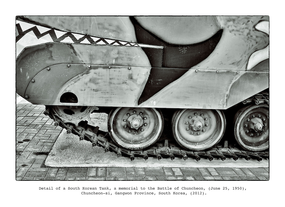 "Details of a South Korean Tank, a memorial to the Battle of Chuncheon, fought at the start of the Korean War on June 25, 1950, Chuncheon-si, in the Gangwon Province, from the series ""Tank, 2012."