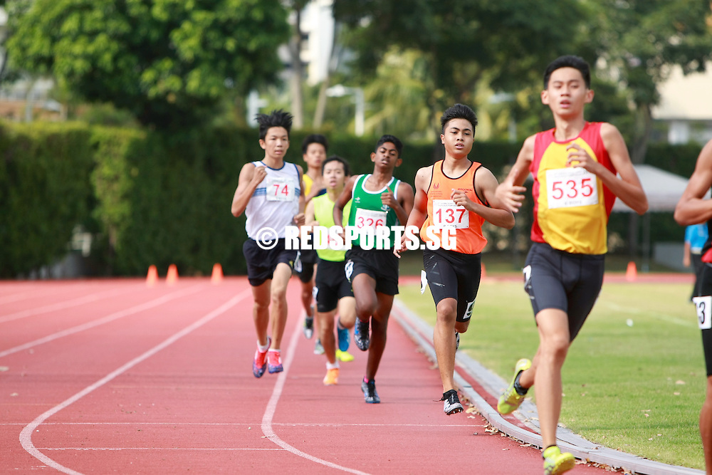 Bishan Stadium, Friday, April 22, 2016 &mdash; Thiruben S/O Thana Rajan of National Junior College clocked an eye-catching 2 minutes 0.47 seconds to claim the B Division Boys&rsquo; 800 metres gold at the 57th National Schools Track and Field Championships.<br />