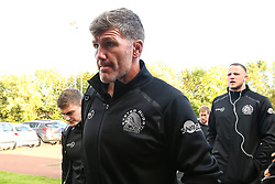 Exeter Chiefs director of rugby Rob Baxter arrives at Kingston Park ahead of his side's Gallagher Premiership fixture against Newcastle Falcons - Mandatory by-line: Robbie Stephenson/JMP - 21/09/2018 - RUGBY - Kingston Park Stadium - Newcastle upon Tyne, England - Leicester Tigers v Exeter Chiefs - Gallagher Premiership