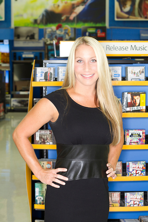Tifanie Van Laar, Music buyer for Walmart at the Music section of Store 100 in Bentonville, Arkansas..Shot for Billboard Magazine