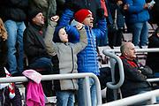 Crewe fans during the EFL Sky Bet League 2 match between Northampton Town and Crewe Alexandra at the PTS Academy Stadium, Northampton, England on 16 November 2019.