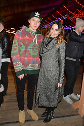MEL C and BROOKLYN BECKHAM at the Hyde Park Winter Wonderland - VIP Preview Night, Hyde Park, London on 17th November 2016.