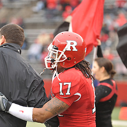 Dec 5, 2009; Piscataway, NJ, USA; Rutgers head coach Greg Schiano shakes hands with linebacker Damaso Munoz during the senior ceremony before first half NCAA Big East college football action between Rutgers and West Virginia at Rutgers Stadium.