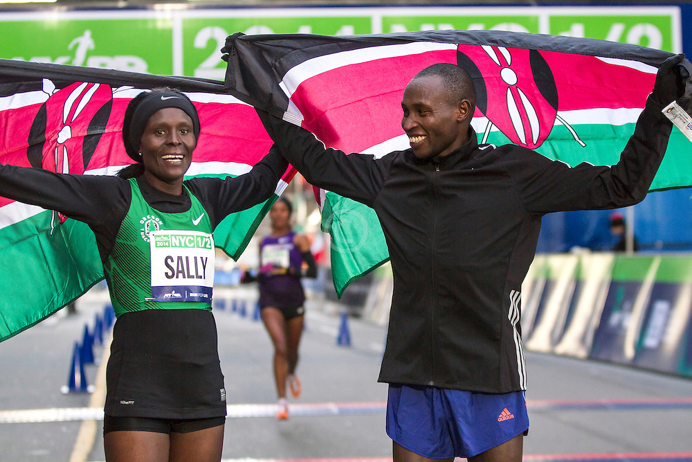 NYRR New York City Half Marathon: Sally Kipyego and Geoffrey Mutai Kenya, winners