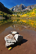 Great conditions for a wide angle reflection of the Maroon Bells