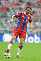 09-08-2014 DUI: FC Bayern Allstars - ManUtd Legends, München<br /> Mark van Bommel (FC Bayern Allstars) // during a Friendly Match between FCB AllStars and ManUtd. <br /> <br /> ***NETHERLANDS ONLY***