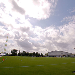 July 29, 2011; Metairie, LA, USA; A general view of the field during the first day of training camp at the New Orleans Saints practice facility. Mandatory Credit: Derick E. Hingle