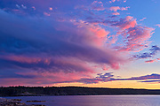Sunset on Chedabucto Bay, Fox Island, Nova Scotia, Canada