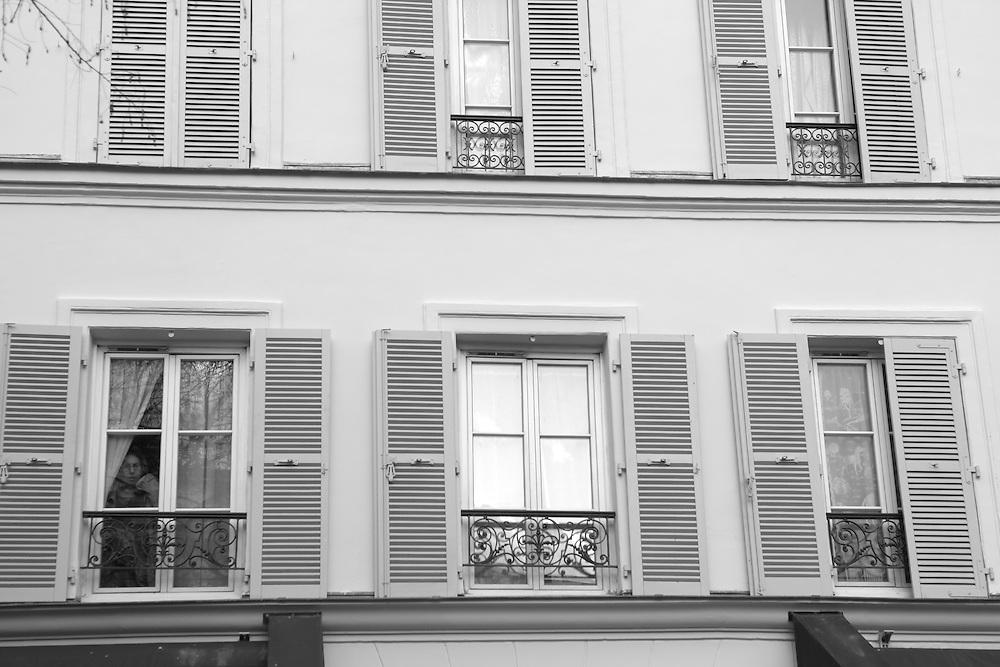 Lady in a window, Paris