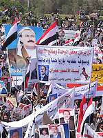 Pro Saleh demos, in Sana'a Yemen