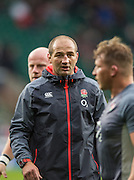 Twickenham, United Kingdom.  Forwards Coach, Steve BORTHWICK, puts the forwards through their pre game training,  Old Mutual Wealth Series: England vs South Africa, at the RFU Stadium, Twickenham, England, Saturday, 12.11.2016<br /> <br /> [Mandatory Credit; Peter Spurrier/Intersport-images]