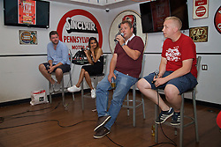 LOS ANGELES, USA - Tuesday, July 26, 2016: Paul Machin, Melissa Reddy, John Gibbons and Paul Pajak during an Anfield Wrap live podcast on day six of Liverpool FC's USA Pre-season Tour. (Pic by David Rawcliffe/Propaganda)