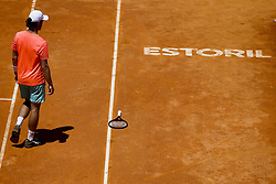 May 6, 2018 - Estoril, Portugal - Artem Sitak from New Zealand looses his racquet  during the Millennium Estoril Open ATP doubles final tennis match, with Wesley Koolhof from Netherlands against Kyle Edmund and Cameron Norrie from Great Britain, in Estoril, near Lisbon, on May 6, 2018. (Credit Image: © Carlos Palma/NurPhoto via ZUMA Press)