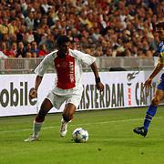 NLD/Amsterdam/20050731 - LG Amsterdam Tournament 2005, Ajax - Boca Juniors, Ryan Babel en Jose Calvo