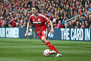 Middlesbrough midfielder Stewart Downing (19)  during the Sky Bet Championship match between Middlesbrough and Ipswich Town at the Riverside Stadium, Middlesbrough, England on 23 April 2016. Photo by Simon Davies.