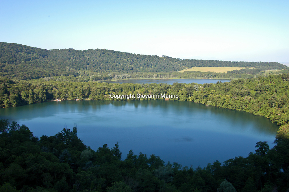 Monticchio Laghi/Basilicata/Italy - The two volcanic lakes of Monticchio