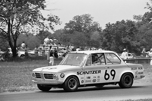 Don Pike in BMW 2002 at 1970 Under-2-Liter Trans-Am, Mid-Ohio; photo by Pete Lyons