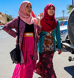 Two young Moroccan women in Taliouine, a little mountain village in the south of Morocco<br /> <br /> (c) Andrew Wilson | Edinburgh Elite media