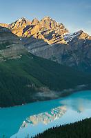 Sunrise over Peyto lake, Banff National Park Alberta Canada