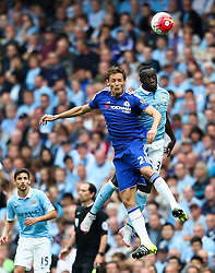 Bacary Sagna of Manchester City challenges Nemanja Matic of Chelsea   - Mandatory byline: Matt McNulty/JMP - 07966386802 - 16/08/2015 - FOOTBALL - The Etihad Stadium -Manchester,England - Manchester City v Chelsea - Barclays Premier League