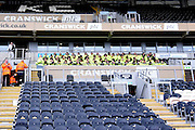 Hull City's KC Stadium security staff pre match briefing before the Sky Bet Championship match between Hull City and Burnley at the KC Stadium, Kingston upon Hull, England on 26 December 2015. Photo by Ian Lyall.