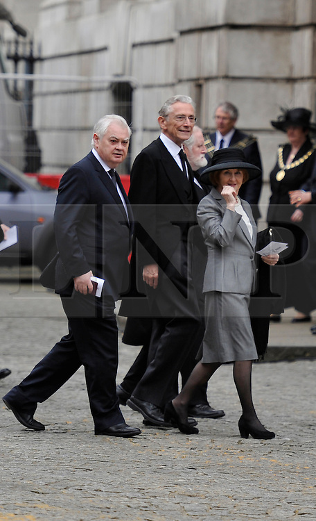 © Licensed to London News Pictures. 17 April 2013. St Paul's Cathedral London. Norman Lamont and ???Funeral of Baroness Thatcher, former Conservative Prime Minister. Photo credit : MarkHemsworth/LNP