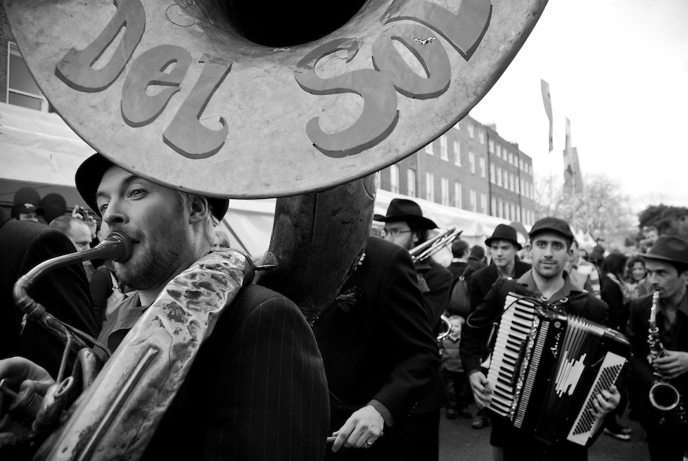 Music on the streets of Dublin during the 2009 St. Patrick's Parade. Since it's establishment in 1995 the St. Patrick's Festival has become the biggest festival in Ireland. It takes place annually on or around St. Patrick's Day, the 17th of March. The highlight of the festival is the St. Patrick's Day Parade which winds it's way through the streets of Dublin on St. Patricks Day.