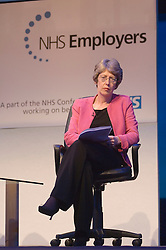 Secretary of State for Health, Rt Hon Patricia Hewitt MP addresses the HR in the NHS 2006 Conference, Internatiional Convention Centre, Birmingham, England, UK.