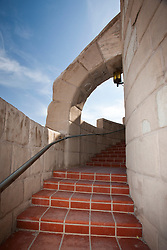 Stairway along clock tower, Scotty's Castle, Death Valley National Park, California, United States of America