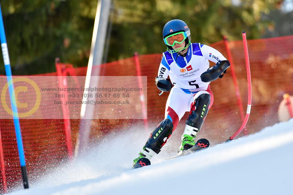 SCHMIDT Bigna, LW5/7-3, SUI, Slalom at the WPAS_2019 Alpine Skiing World Cup Finals, Morzine, France