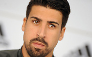 Sami Khedira of Germany speaks at a press conference at Stadio Communale, Ascona<br /> Picture by EXPA Pictures/Focus Images Ltd 07814482222<br /> 31/05/2016<br /> ***UK &amp; IRELAND ONLY***<br /> EXPA-EIB-160531-0016.jpg