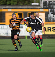 Dundee new boy Michael Duffy and Alloa Athletic&rsquo;s Jim Goodwin  - Alloa Athletic v Dundee, pre-season friendly at Recreation Park, Alloa<br /> <br />  - &copy; David Young - www.davidyoungphoto.co.uk - email: davidyoungphoto@gmail.com