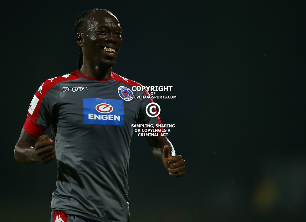 Reneilwe Letsholonyane of SuperSport United during the 2016 Premier Soccer League match between Maritzburg Utd and SuperSport United held at the Harry Gwala Stadium in Pietermaritzburg, South Africa on the 21st September 2016<br /> <br /> Photo by:   Steve Haag / Real Time Images