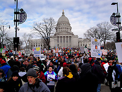 Protests at the Wisconsin State Capitol.