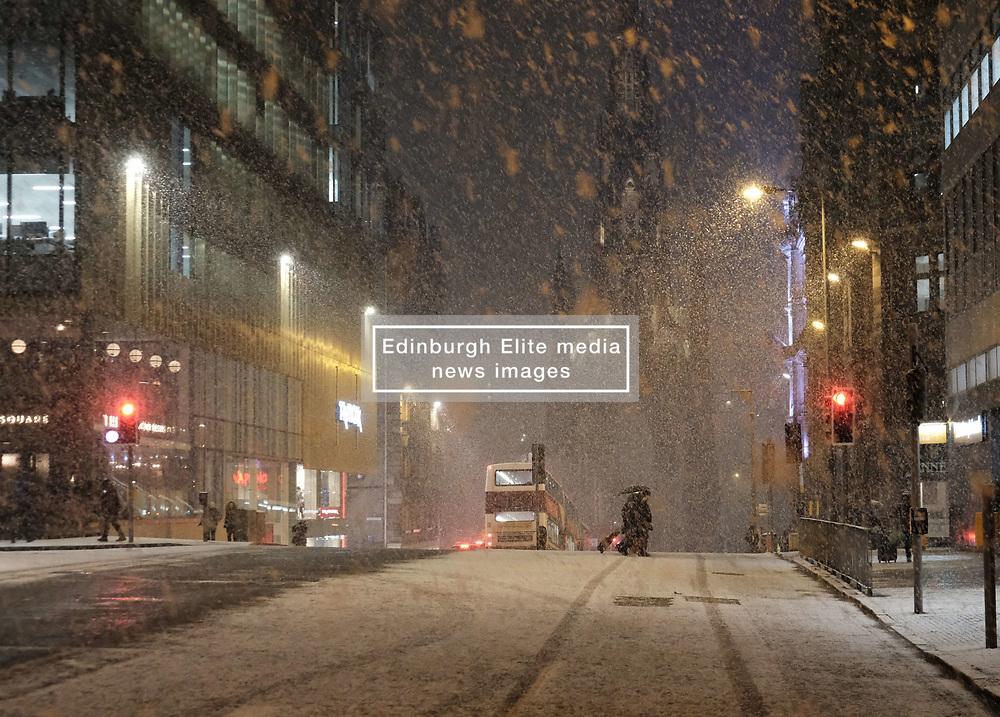 Heavy snow fell in Edinburgh today.<br /> <br /> Alex Todd   EEm